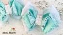 Нежные мятные бантики для девочки