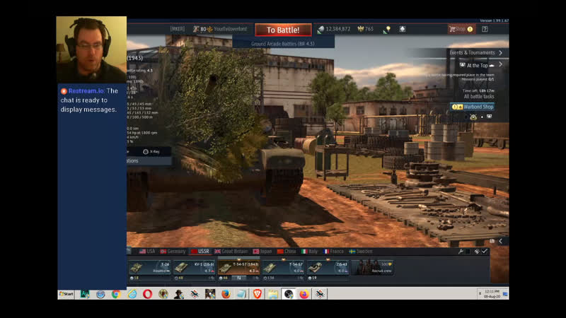 Warthunder T 34 57 Quick before the horde of goblins swarm
