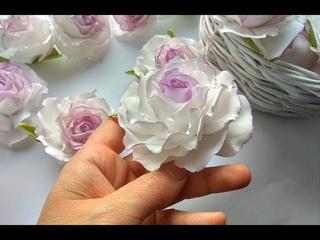 Как сделать пышную розу с плоским основанием из зефирного фоамирана