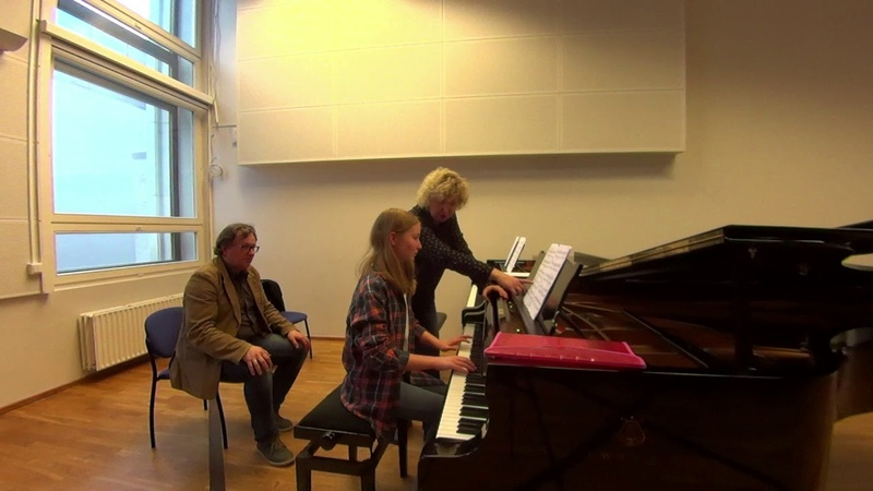 04 10 2019 Mira Marchenko and Carita Irjas Master classes at the 'YOUNG MUSICIAN 2019' EAMT