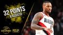 Damian Lillard Full Highlights 2019.10.23 Blazers vs Nuggets - 32 Pts, 8 Asts!   FreeDawkins
