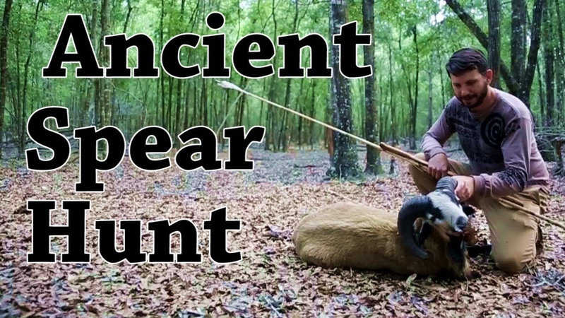 Stone Age Spear Hunting with an Atlatl