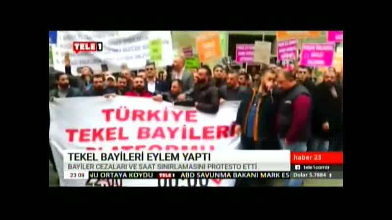 TEKEL BAYİLERİ EYLEMİ. 8.12.2019. PZR.