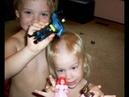 Мальчик подстриг Свою Сестру и Младшего Братика The Boy Shaved his Sister and Younger Brother with an Electric Razor