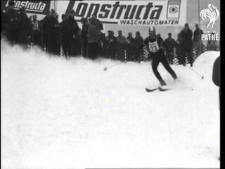 Ladies Downhill Slalom Ski Race  (1966)
