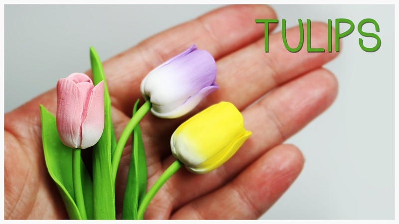 Polymer clay Tulips TUTORIAL (Mothers Day project)