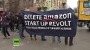 Berlin: 'Fight the Tower!' - Tausende protestieren gegen den Bau des Amazon-Turms