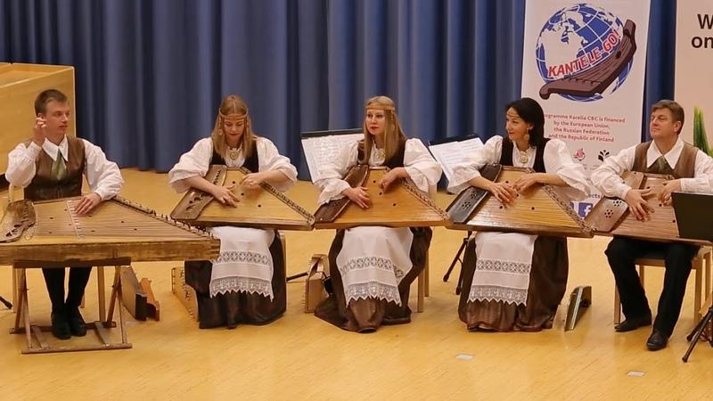 Ансамбль Кантеле исполняет Перезвон из сюиты Озерный край Музыка Ирины Шишкановой