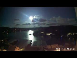 Падение метеорита над озером Озаркс, США ЖЮ