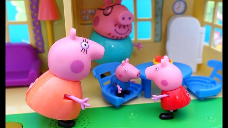 Свинка Пеппа Джорж капризный весь день Что случилось с Джоржем Пеппины истории