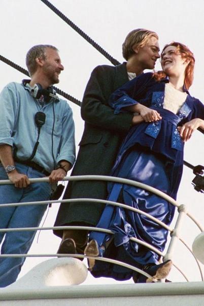 На съёмках одной из самых известных сцен «Титаника», 1996 год
