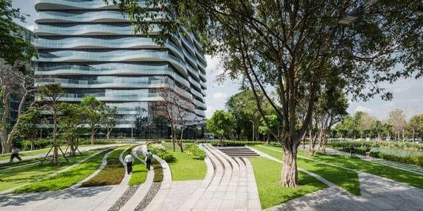SCG Headquarters by Landscape Architects of Bangkok (LAB), in Bangkok, Thailand.