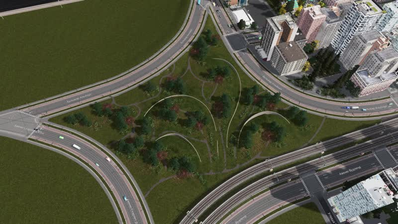 Cities Skylines - City of silence: каменистый берег и большой парк для прогулок youtu.be/AiYug-W7v7U