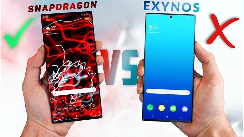 Samsung Galaxy Note 20 Ultra Qualcomm vs Exynos *Shocking*