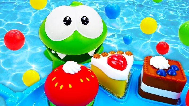 Learn Animals, Colors, and Shapes for Kids with Toys at the Water Pool