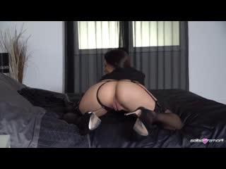Black lingerie hot girl seducing & teasing seduction on the bed escort cam shows