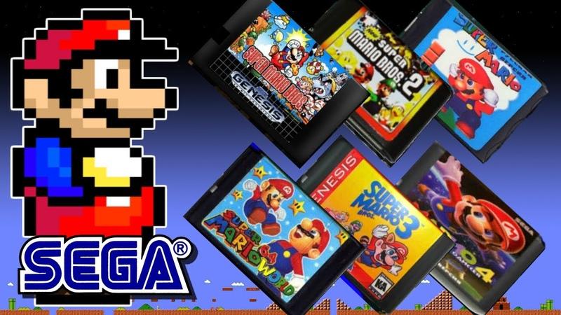 LOS 6 JUEGOS PIRATAS de SUPER MARIO BROS en Sega Genesis ROMS Mega Drive hack Homebrew