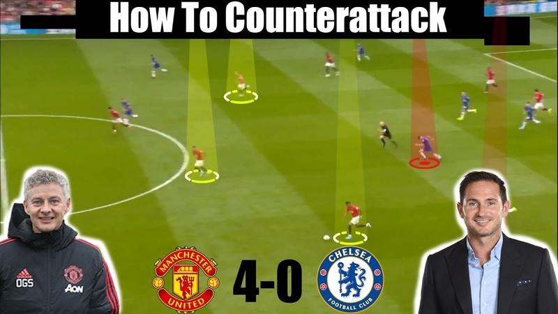 Tactical Analysis Man United 4 0 Chelsea Lampard v Solskjaer Goals Rashford Martial James