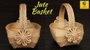 DIY Flower Basket with Jute Sheet and Waste Plastic Carry Bag   Best out of Waste Jute Art and Craft