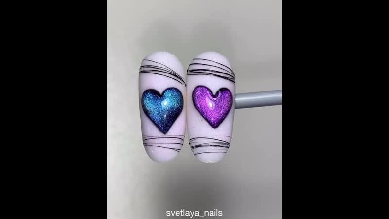 Милый дизайн с сердечками