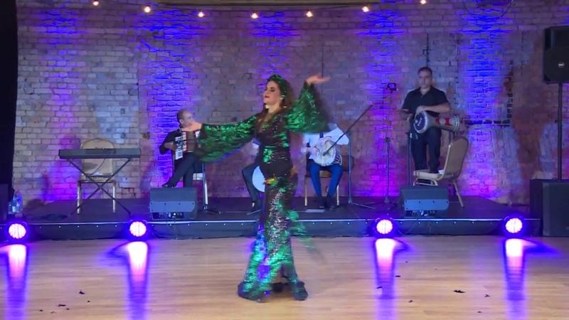 Karina Chistova Baladi Awalim with Al Azdekaa band Riga 2019 Darbuka Hafla