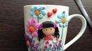 Porcelana fría tazas decoradas