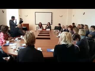 Пресс-завтрак с Ниной Шацкой и Ольгой Кабо