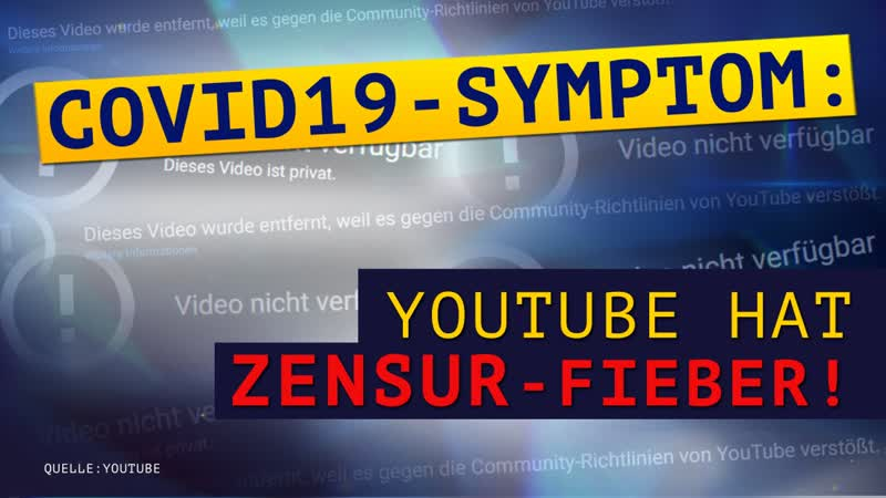 Covid19 Symptom YouTube hat Zensur Fieber Medienkommentar