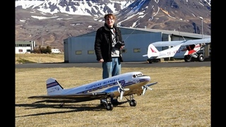 First flight of DC-3 RC 1/8 scale