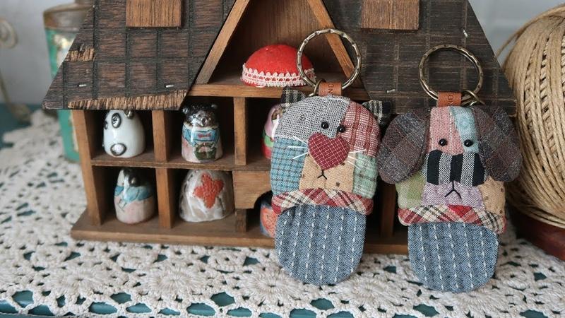 DIY 퀼트키홀더 만들기 │Kitty Doggy Quilt Key Holder│How To Make Crafts Tutorial