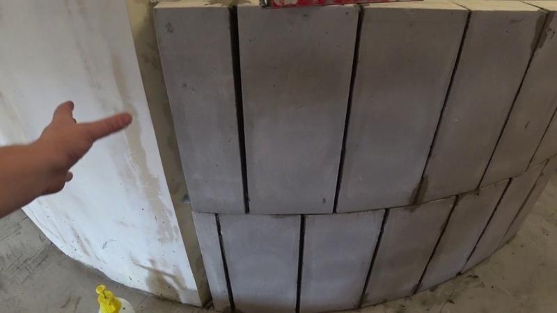 серия 6 Возведение полукруглых стен из пеноблоков