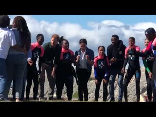 More Dancing Duchess! Harry and Meghan get moving with surfers from  RoyalV