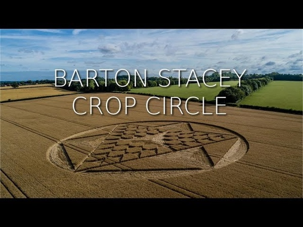 Crop Circle | Barton Stacey, Nr Andover, Hampshire | Reported 28th July 2019 4K