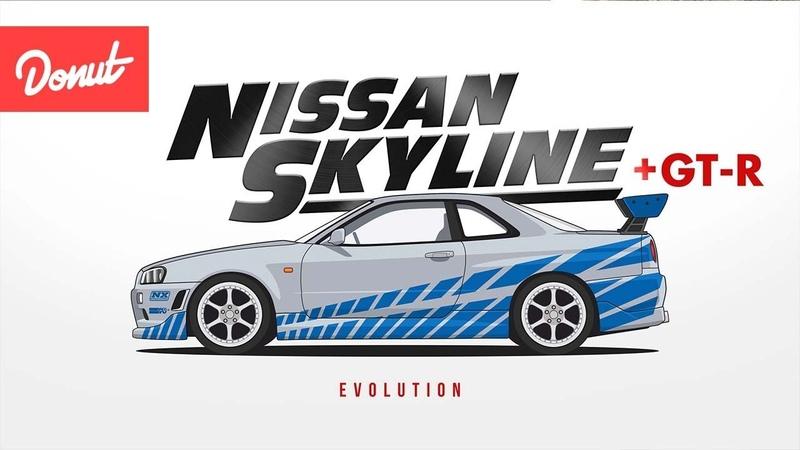 Evolution of the Nissan Skyline [ GT-R ] | Donut Media