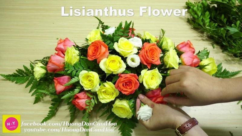 Cách cắm hoa để bàn đẹp Hoa CÁT TƯỜNG Trắng ,Hoa Hồng|Cắm hoa mở shop 37