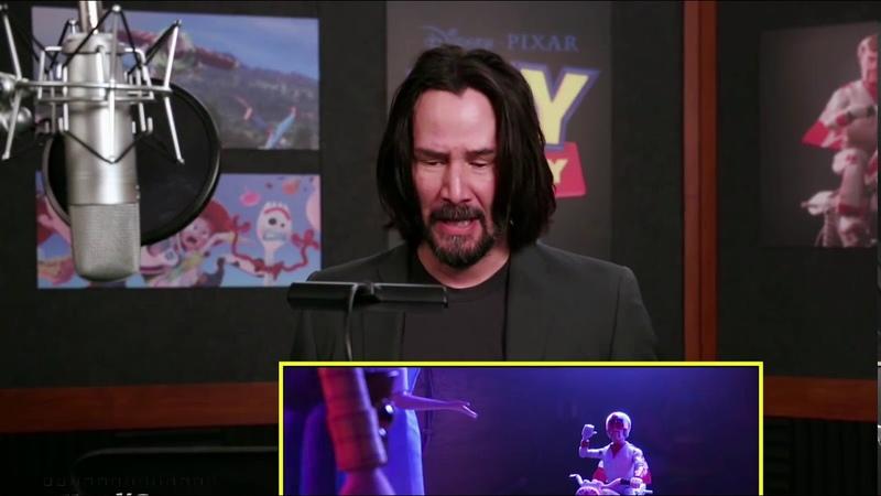Keanu Reeves as Duke Caboom | Behind the Scenes of Toy Story 4
