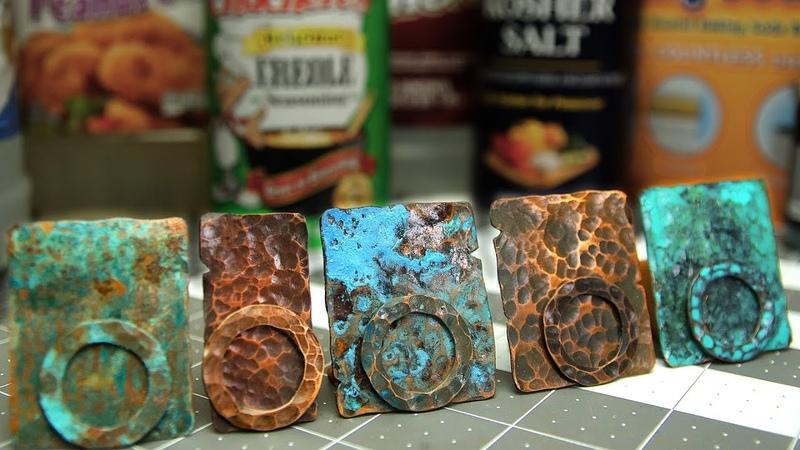 Copper Patinas - How To Patina Copper Metal - Five Recipes - Verdigris, Liver of Sulphur, Vinegar