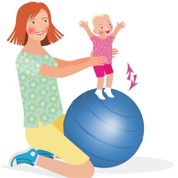 Детский фитнес нарисованная картинка