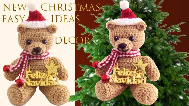 Ideas de Navidad Como hacer un osito navideño New and Easy Christmas ideas decor