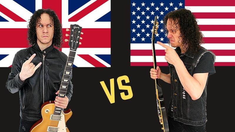BRITISH Heavy Metal vs Heavy Metal USA Guitar Riffs Battle