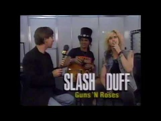 Classic Guns N Roses Interview Featuring Slash and Duff McKagan Rock In Rio 2 1991