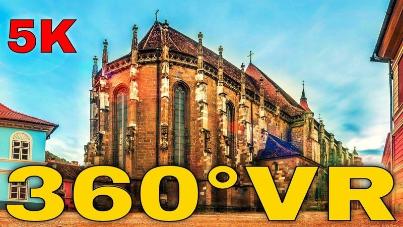 360° VR Black Church Virtual Tour Brasov Romania Travel Vlog Biserica Neagra Bv 5K 3D Reality HD 4K