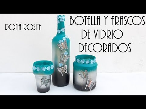 Manualidades faciles con reciclaje de botella y frascos de vidrio paso a paso