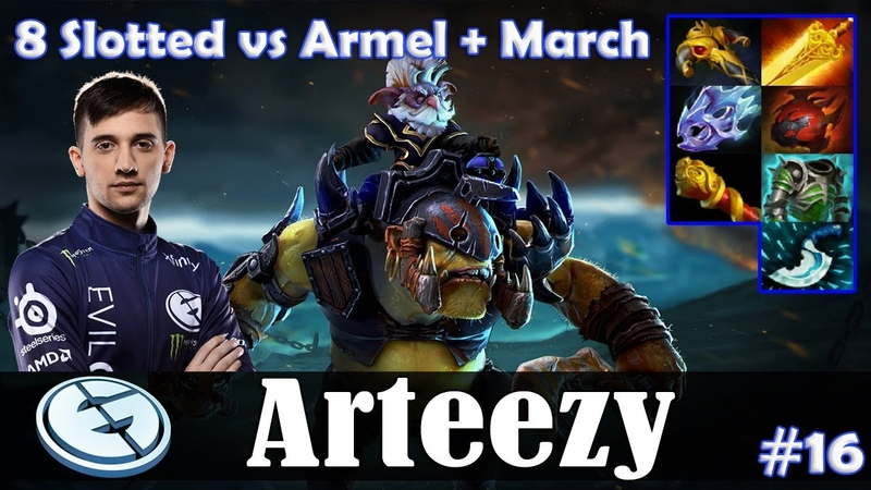 Arteezy - Alchemist Safelane | 8 Slotted vs Armel (OD) March (WD) | Dota 2 Pro MMR Gameplay 16