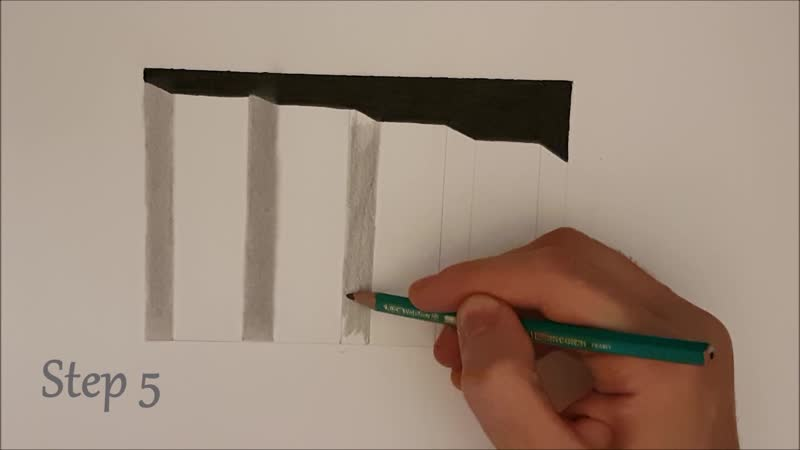 ✍ How To Draw 21 🌟 3D Staircase   Very Easy 🌌 3D illusion/Geometry