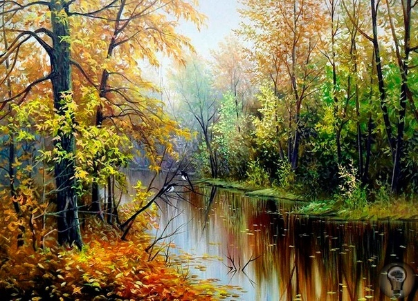 Корников Юрий, белорусский художник. Пишет замечательные пейзажи родной страны. Богатейшая палитра позволяет Юрию Корникову отразить всю красоту родной природы и заставить зрителя почувствовать
