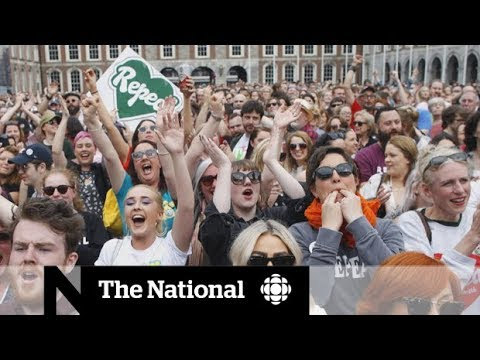 Irish women celebrate after abortion referendum