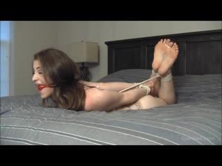 Terra Hogtied and Toe Tied