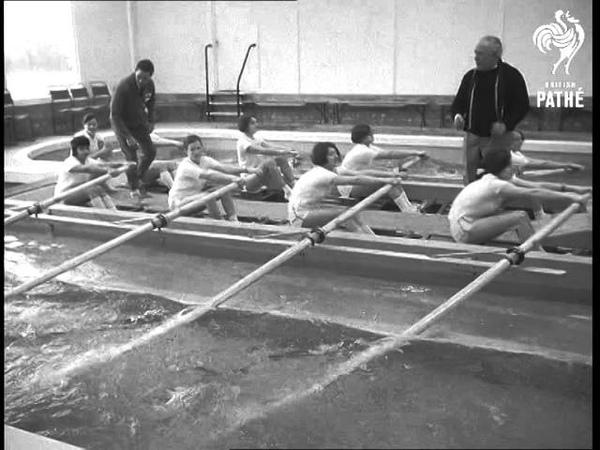 Barn Elms Rowing Tank Aka Children Learn To Row On Indoor Tank 1968
