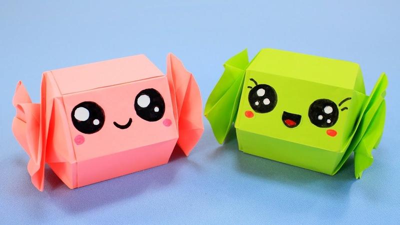 Кавайная Конфета коробочка из бумаги Kawaii funny box